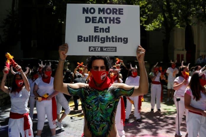 Animal rights activists demand permanent closure of Pamplona bull-running festival