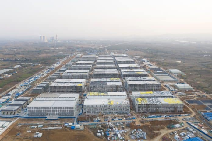 A drone image shows Muyuan Foods newly built multi-storey pig farm, China, photo: Muyuan Foods / Reuters